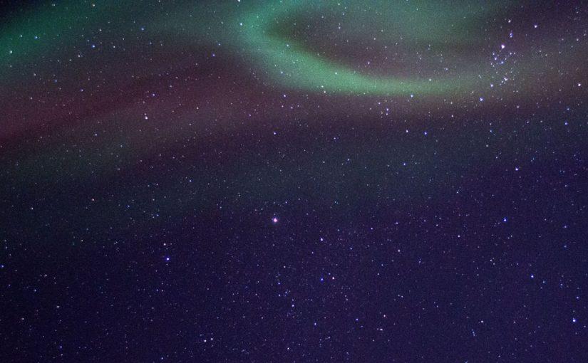 Polarlichter aus dem Weltall betrachtet